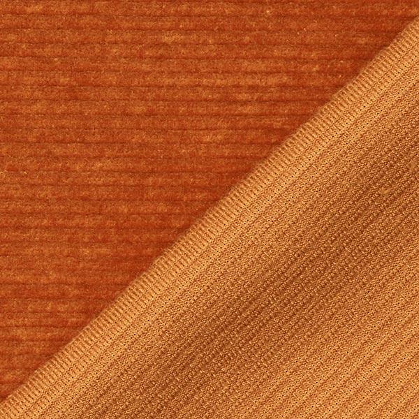 Velours à côtes fines jersey – marron clair