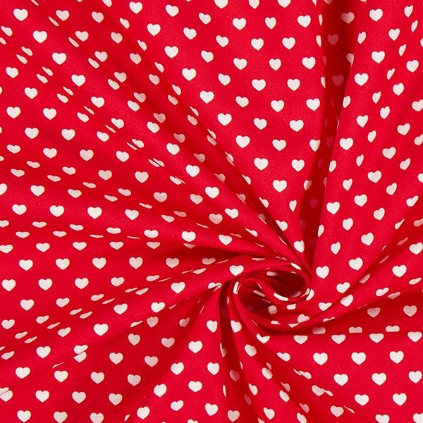 Popeline Cœurs miniature – rouge