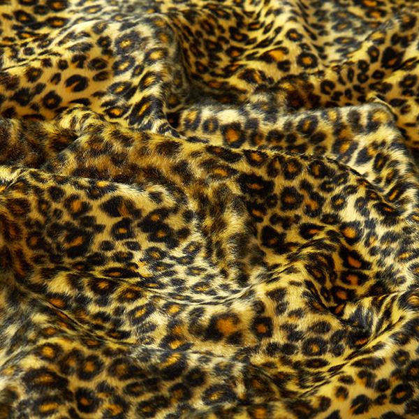 Tissu carnaval Fourrure synthétique Motif léopard – jaune
