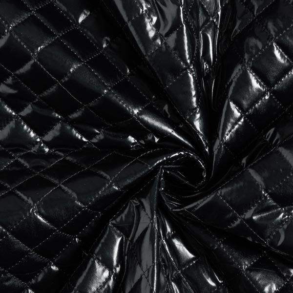 Tissu feuille matelassé – noir