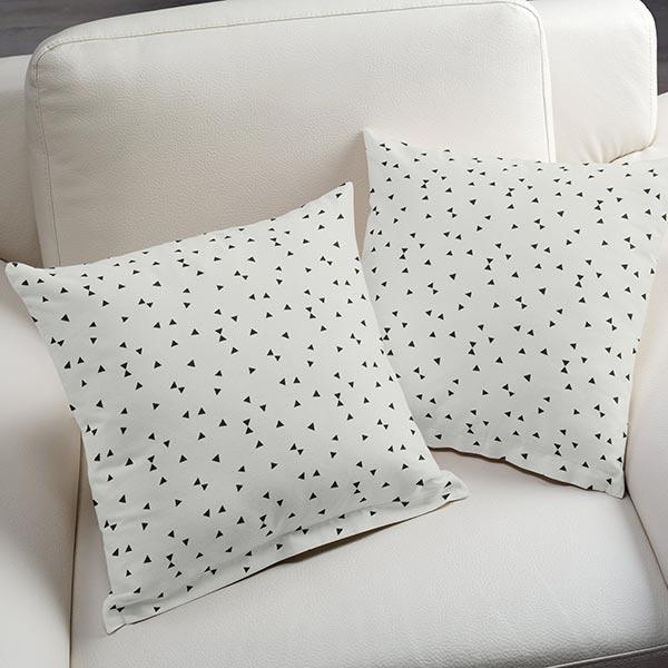 Tissu de décoration Ottoman Triangles 3 – blanc