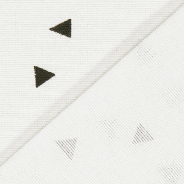 Dekostoff Ottoman Dreiecke 3 – weiss