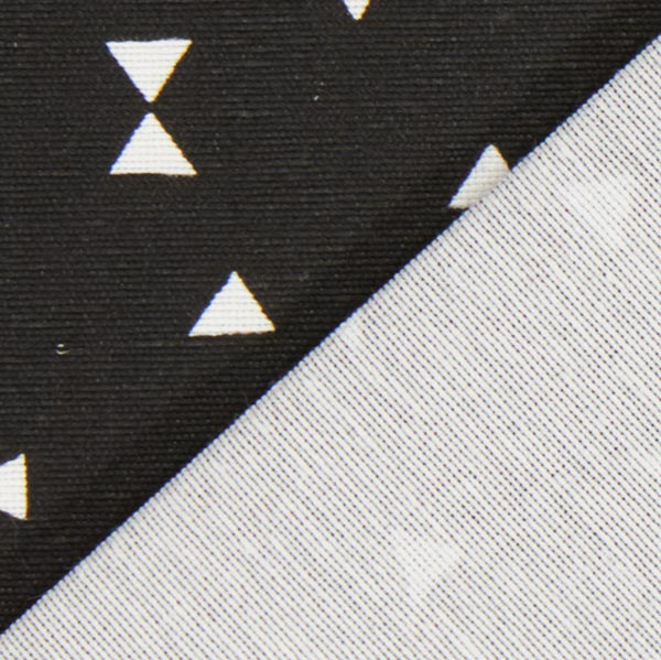 Tissu de décoration Ottoman Triangles 5 – noir