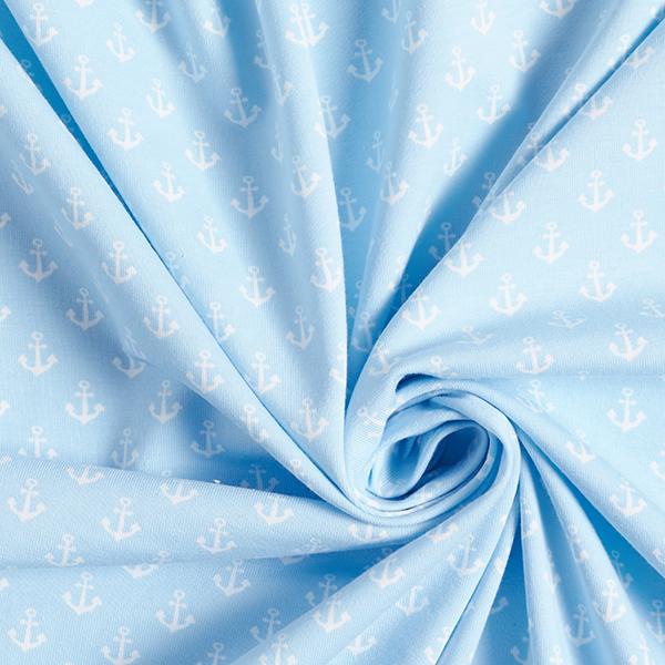 Jersey coton Ancre [1,2 cm] – bleu bébé