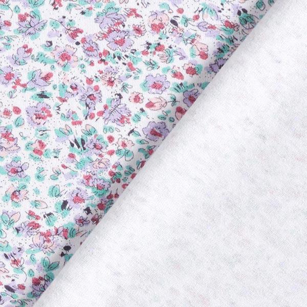 Jersey coton Floraison – lilas/rouge