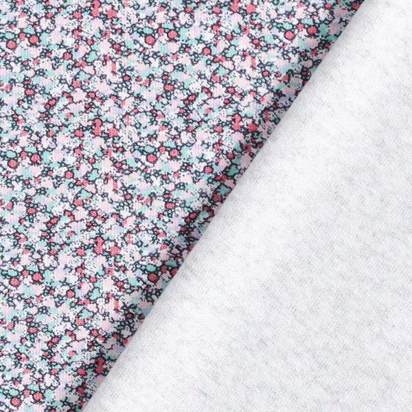 Jersey coton Mille-fleurs miniatures – bleu/rouge