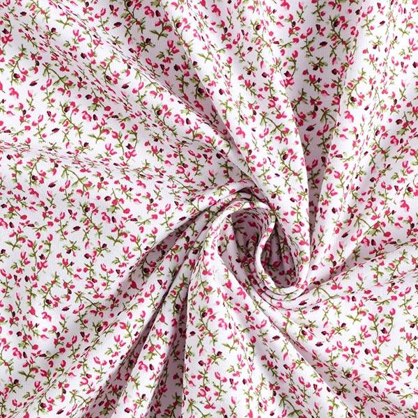 Jersey coton Petits rinceaux de fleurs – baies