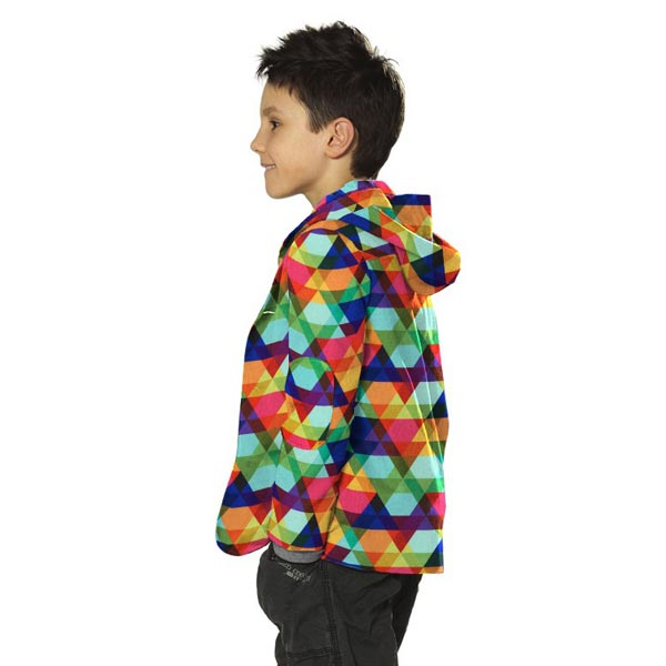 Softshell Triangles multicolores – vert menthe