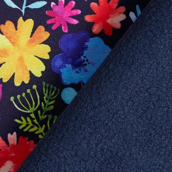 Softshell Prairie fleurie multicolore – bleu marine