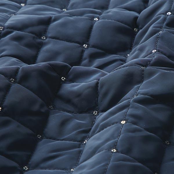Tissu matelassé Orné de paillettes – bleu marine