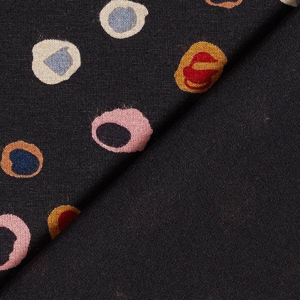 Jersey viscose Taches multicolores – noir