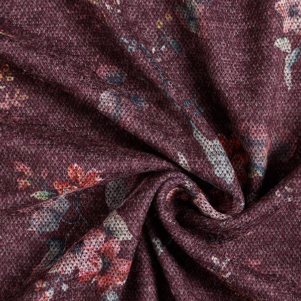 Doubleface Fleurs – rouge bordeaux