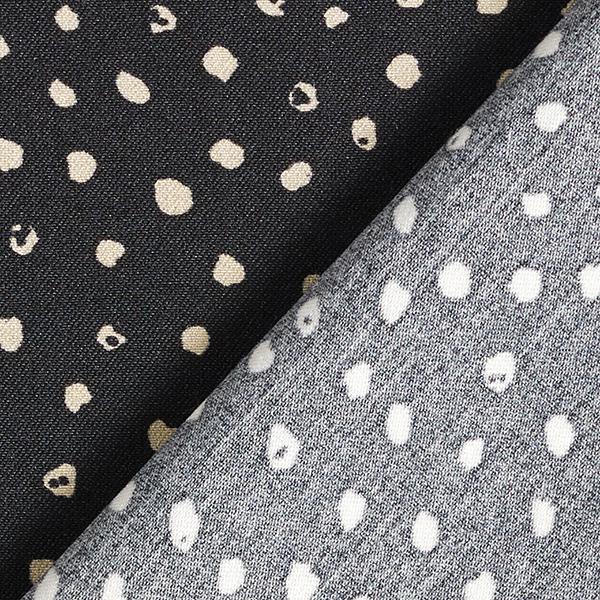Tissu stretch mélange viscose points – noir/sable