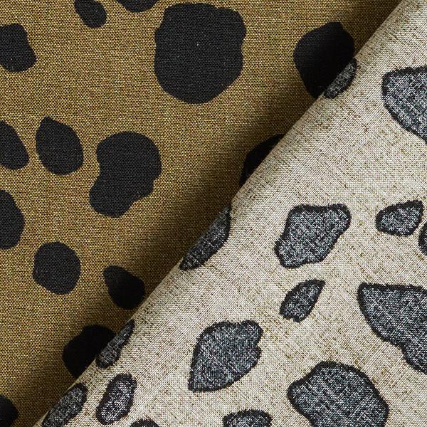 Tissu de chemisier viscose taches – olive