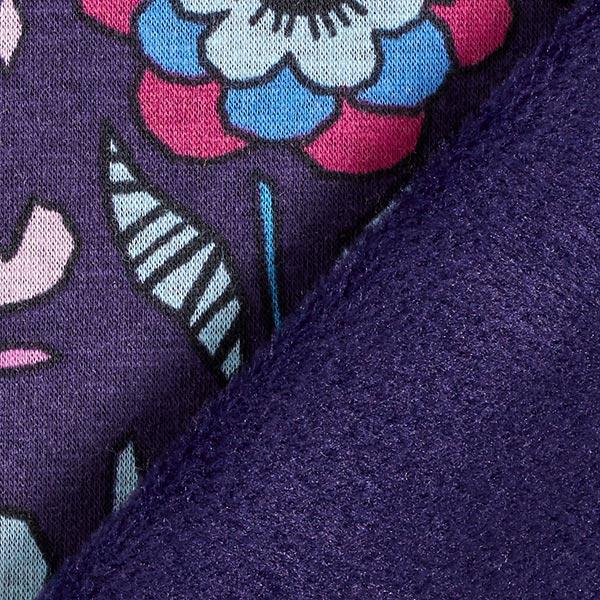 Polaire alpin Fleurs automnales – lilas/bleu clair