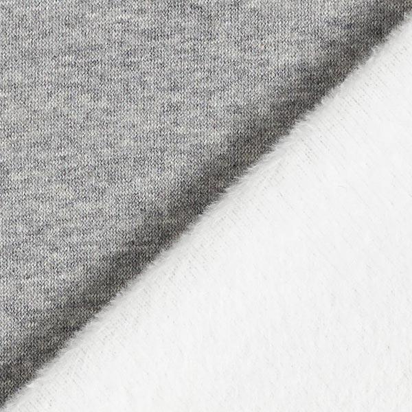 Alpenfleece Kuschelsweat Uni – grau