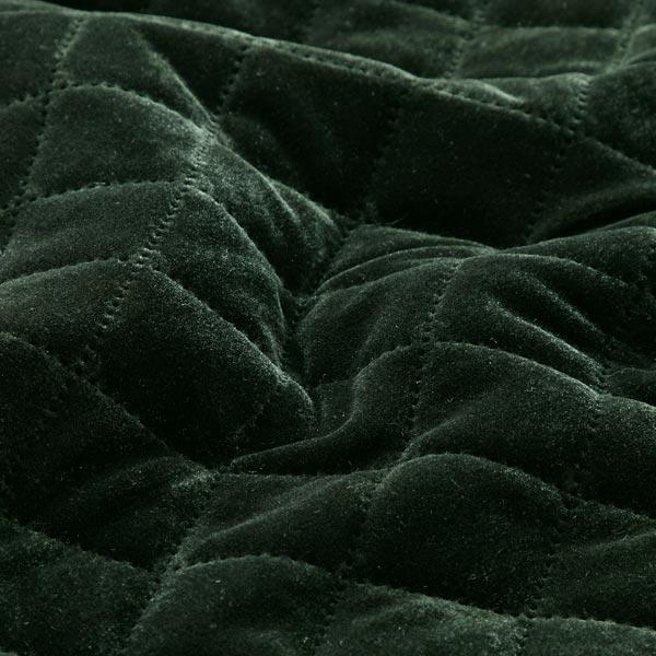 Velours aspect matelassé – vert foncé