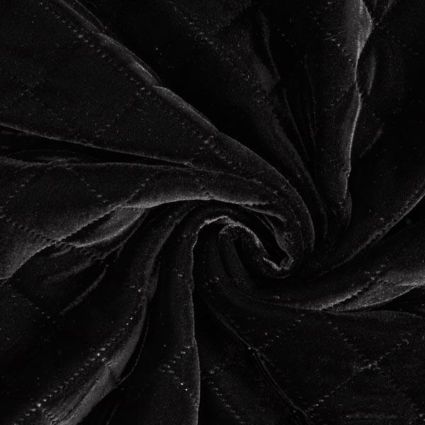 Velours aspect matelassé – noir