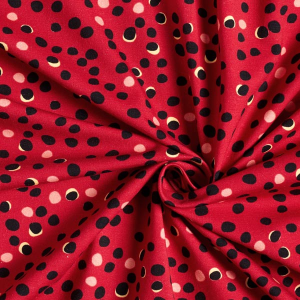 Jersey coton Taches – carmin/noir