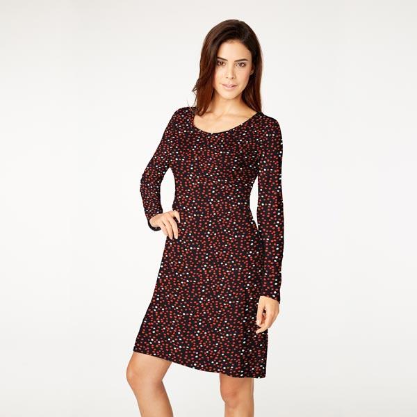 Jersey coton Taches – noir/rouge