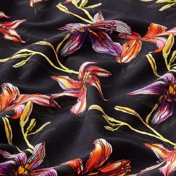 Jersey coton Lys – noir