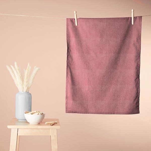 Tissu éponge douillet Bambou Uni – vieux rose