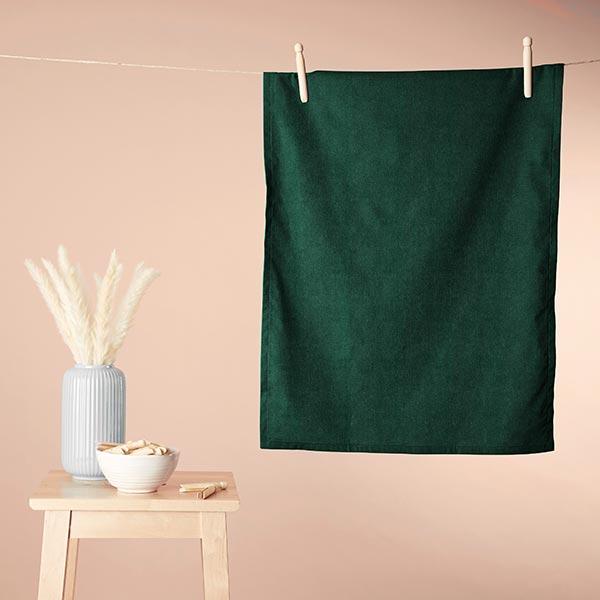 Tissu éponge douillet Bambou Uni – vert foncé