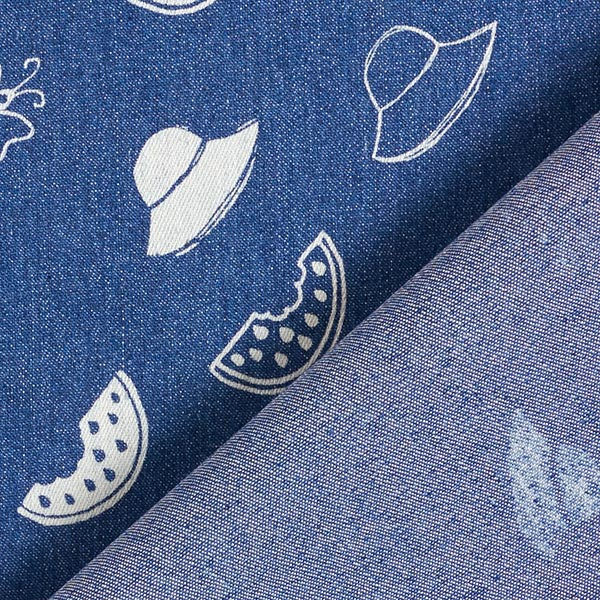 Tissu jeans Stretch Light Tropical chic – bleu jean