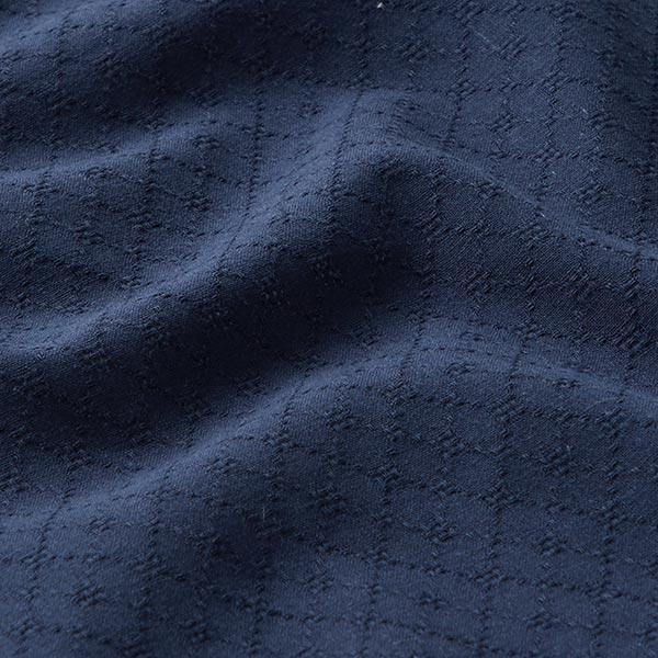 Tissu en coton léger ajour losanges – bleu marine
