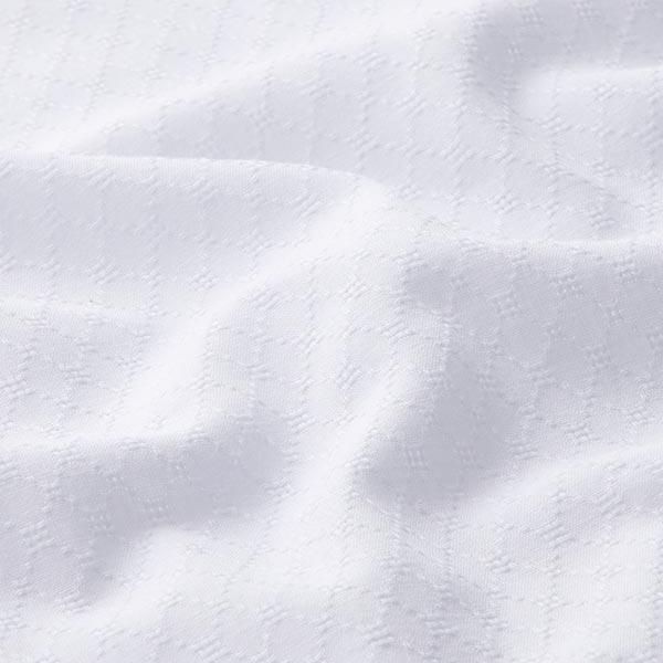 Tissu en coton léger ajour losanges – blanc