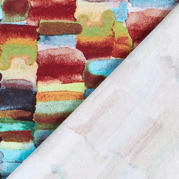 Jersey viscose Motif aquarelle coloré