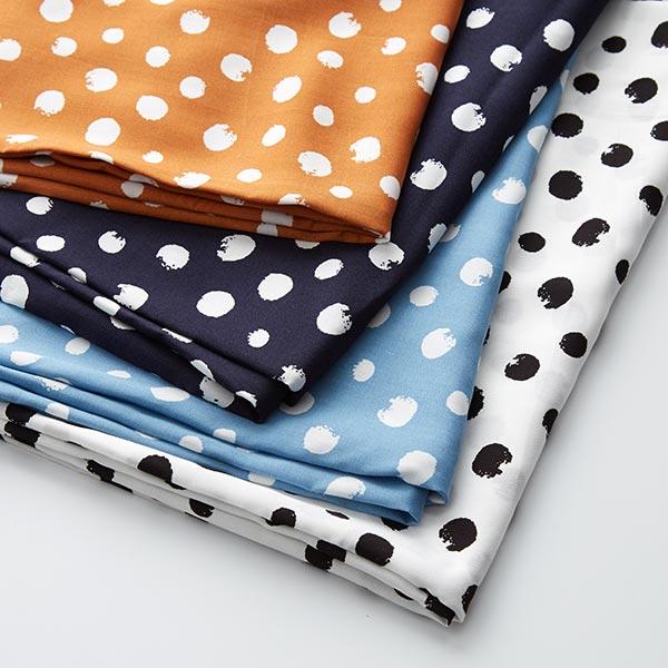 Tissu pour chemisier Viscose Points – bleu jean/blanc