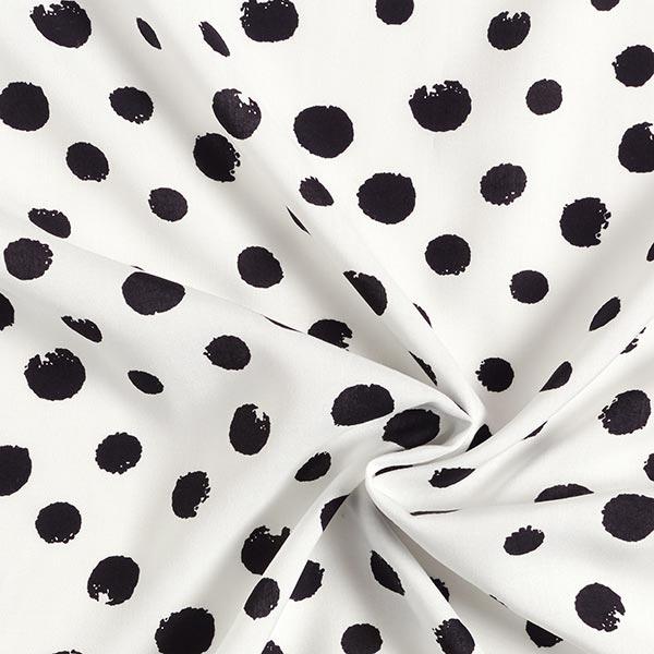 Tissu pour chemisier Viscose Points – blanc/noir