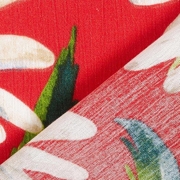Tissu pour chemisier Viscose Crêpe Marguerites – rouge