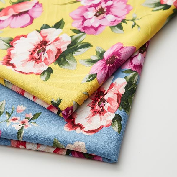 Tissu pour chemisier Stretch Fleurs – jaune