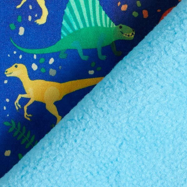Softshell Dinosaures multicolores – bleu roi/turquoise