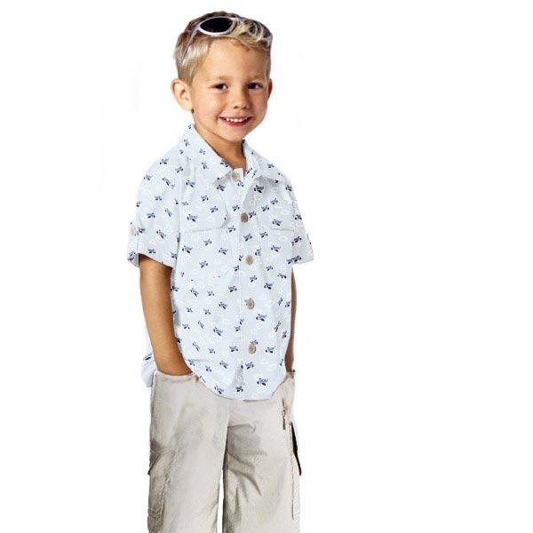 Popeline coton Avions – bleu bébé