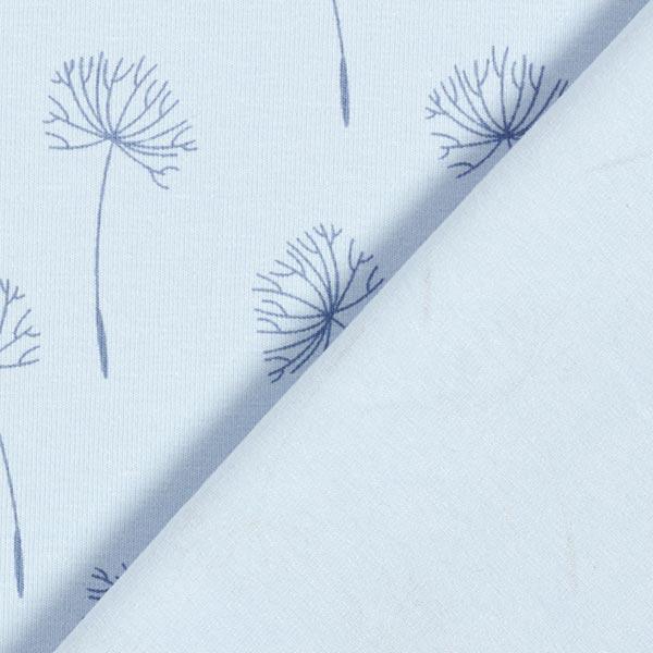 Jersey coton Fleur de pissenlit – bleu bébé