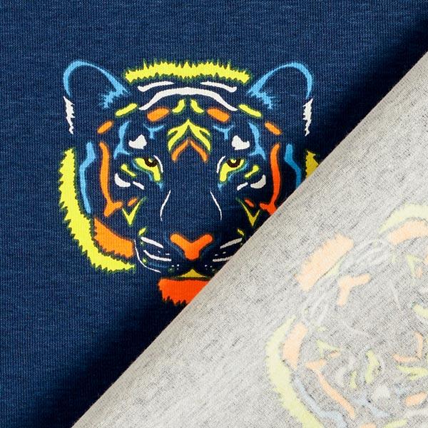 Jersey coton Tête de Tigrou fluo – bleu marine/jaune fluo