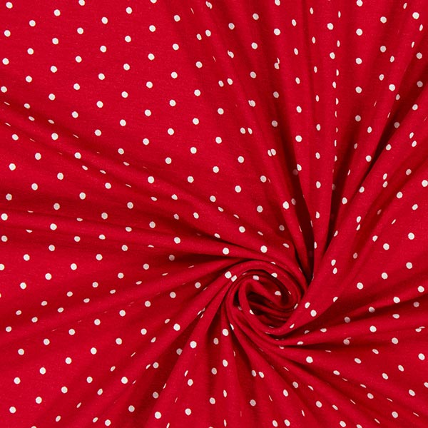 Jersey viscose Points micro – rouge