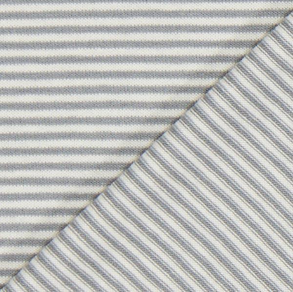 Jersey viscose rayures – gris clair