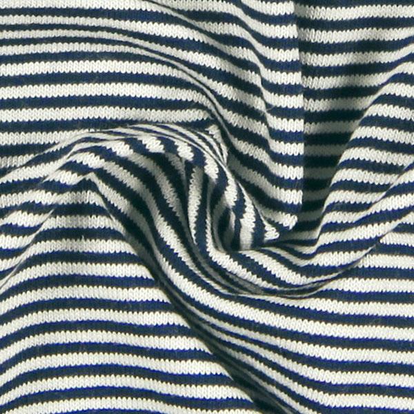 Jersey viscose à fines rayures – navy