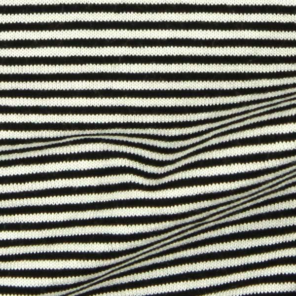 Jersey viscose rayures – noir