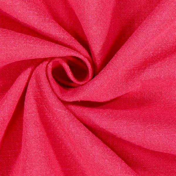 Tissu de lin prélavé – rose vif