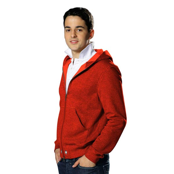 Sweat-shirt lisse – rouge vif