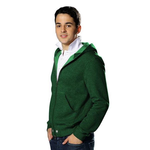 Sweat-shirt lisse – vert foncé