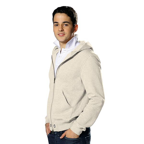 Sweat-shirt lisse – beige