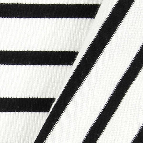 Jersey Rayures – écru/noir