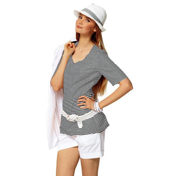 Jersey Rayures étroites – noir/blanc