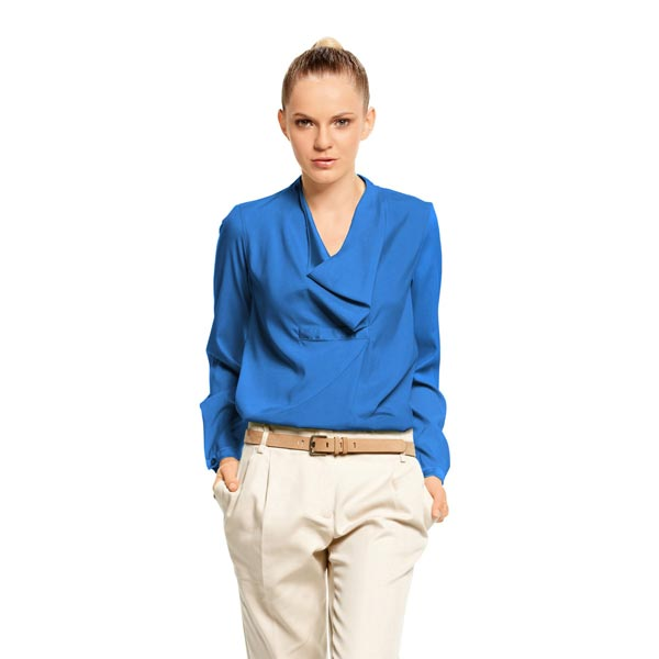 Crêpe Georgette Moss – bleu roi